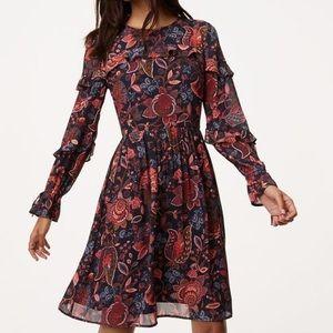 LOFT | Hydrangea Bouquet Ruffle Dress